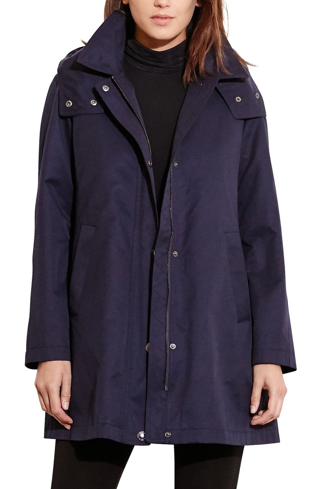 Lauren Ralph Lauren A-Line Jacket with Removable Liner