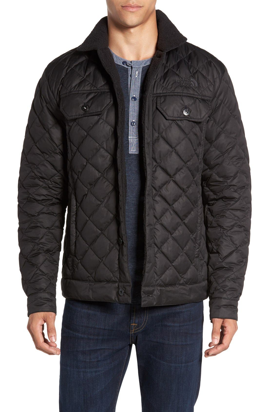Alternate Image 1 Selected - The North Face Sherpa Fleece Lined Quilted Jacket