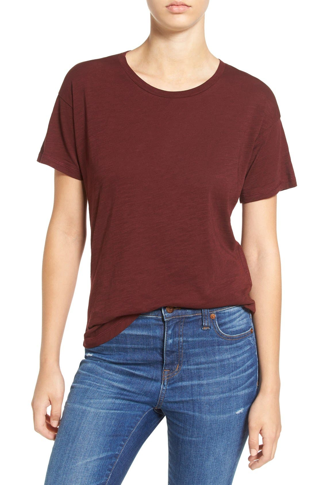 Alternate Image 1 Selected - Madewell 'Whisper' Cotton Crewneck Tee