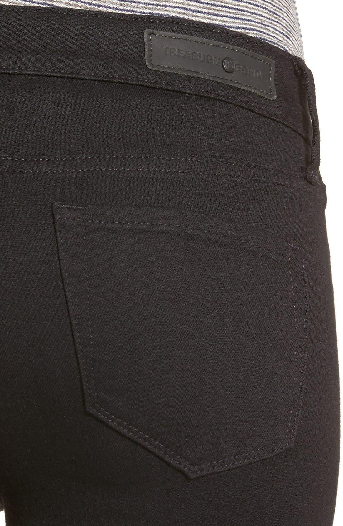 Alternate Image 6  - Treasure & Bond Crop Skinny Jeans (Midnight Rinse)