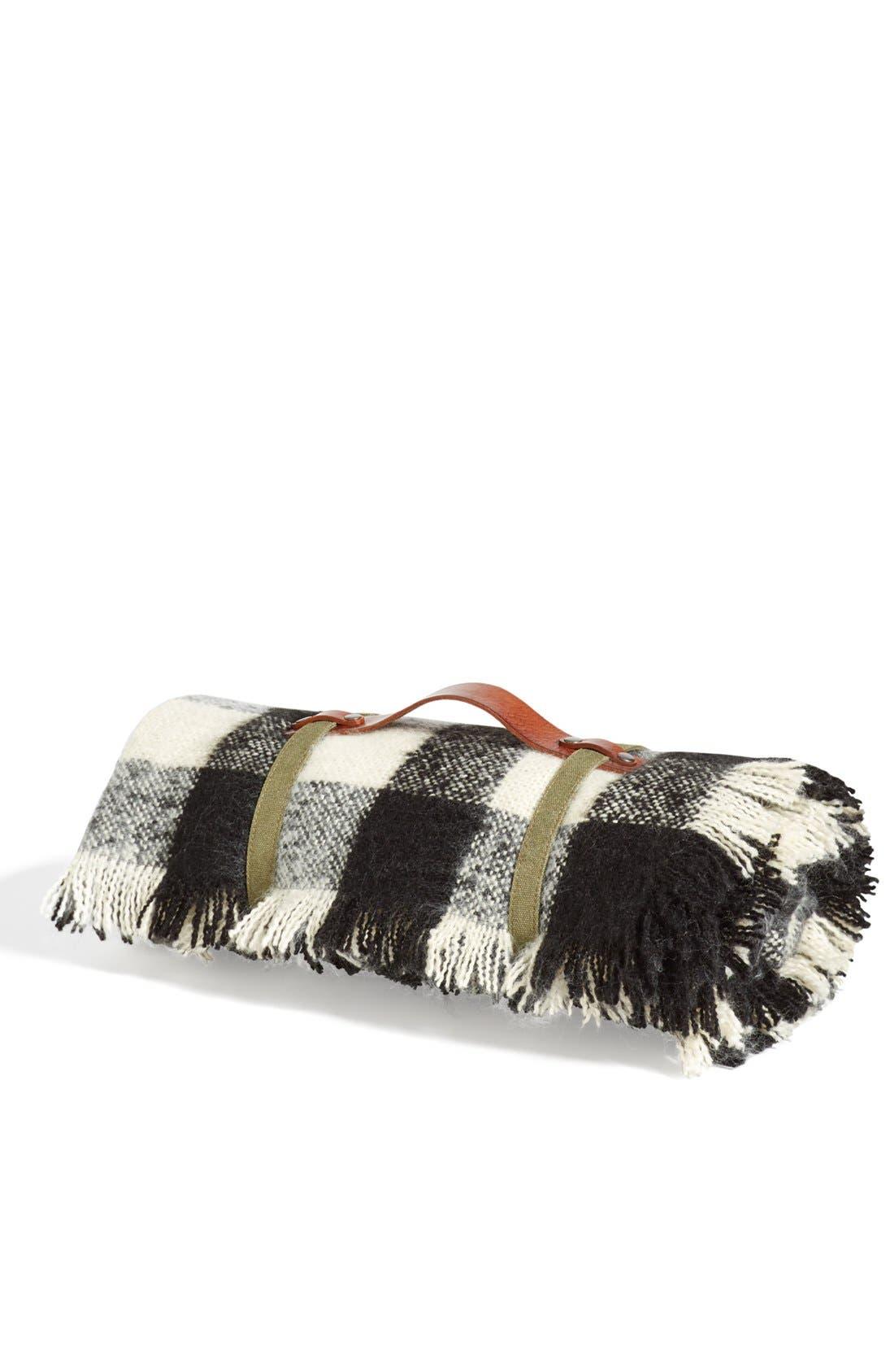 Alternate Image 7  - Treasure&Bond Buffalo Check Blanket Wrap