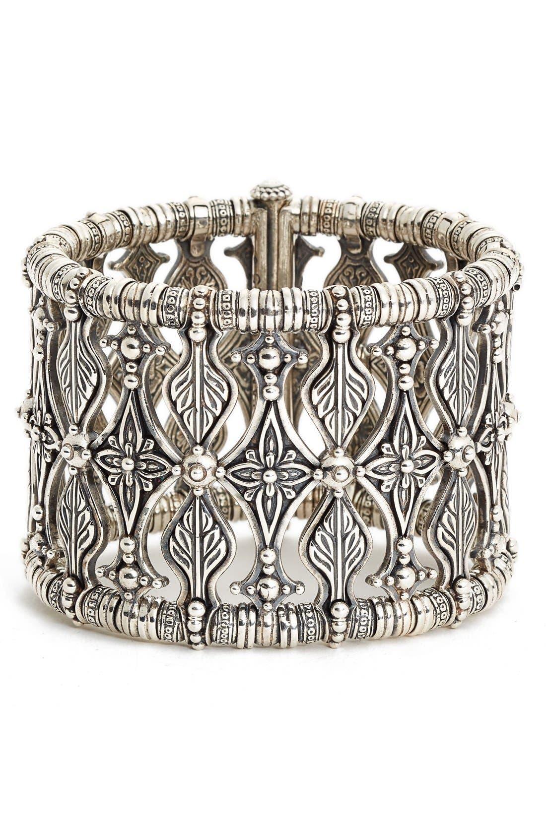 KONSTANTINO 'Penelope' Floral Metalwork Bracelet