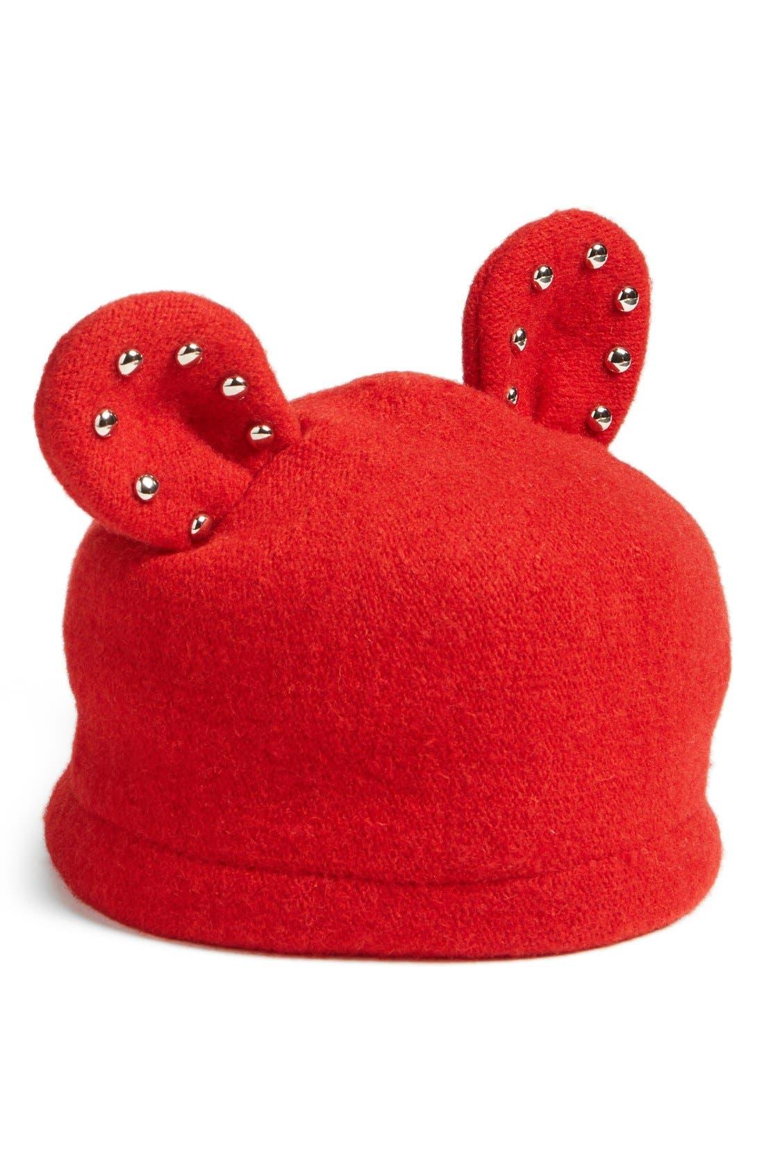 Alternate Image 1 Selected - Helene BermanStudded Ears WoolBlend Cap