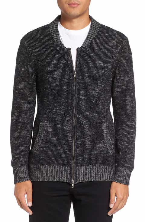 Michael Stars Two-Way Zip Mélange Sweater