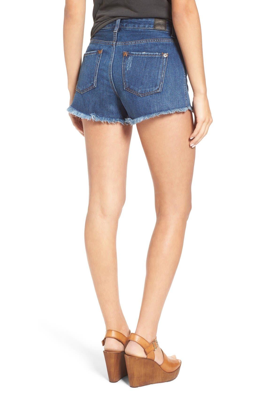 Alternate Image 2  - RVCA 'Highly Vibed' Cutoff Denim Shorts