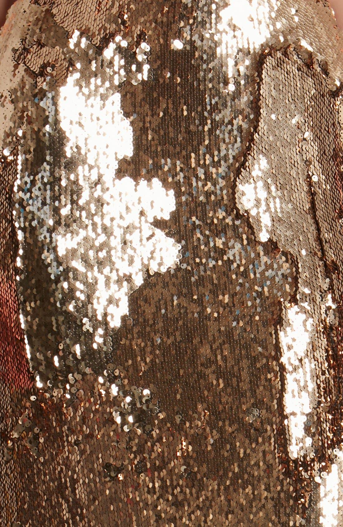 Alternate Image 4  - Dress the Population 'Sasha' Sequin Midi Skirt