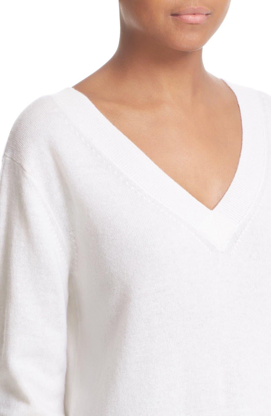 Alternate Image 4  - Vince Cashmere V-Neck Sweater