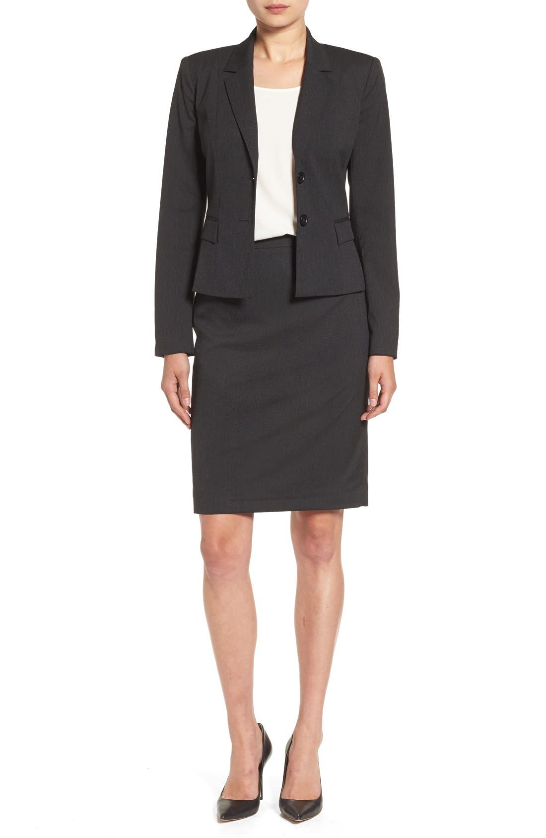 Alternate Image 7  - Halogen® Mini Stripe Suit Jacket (Regular & Petite)