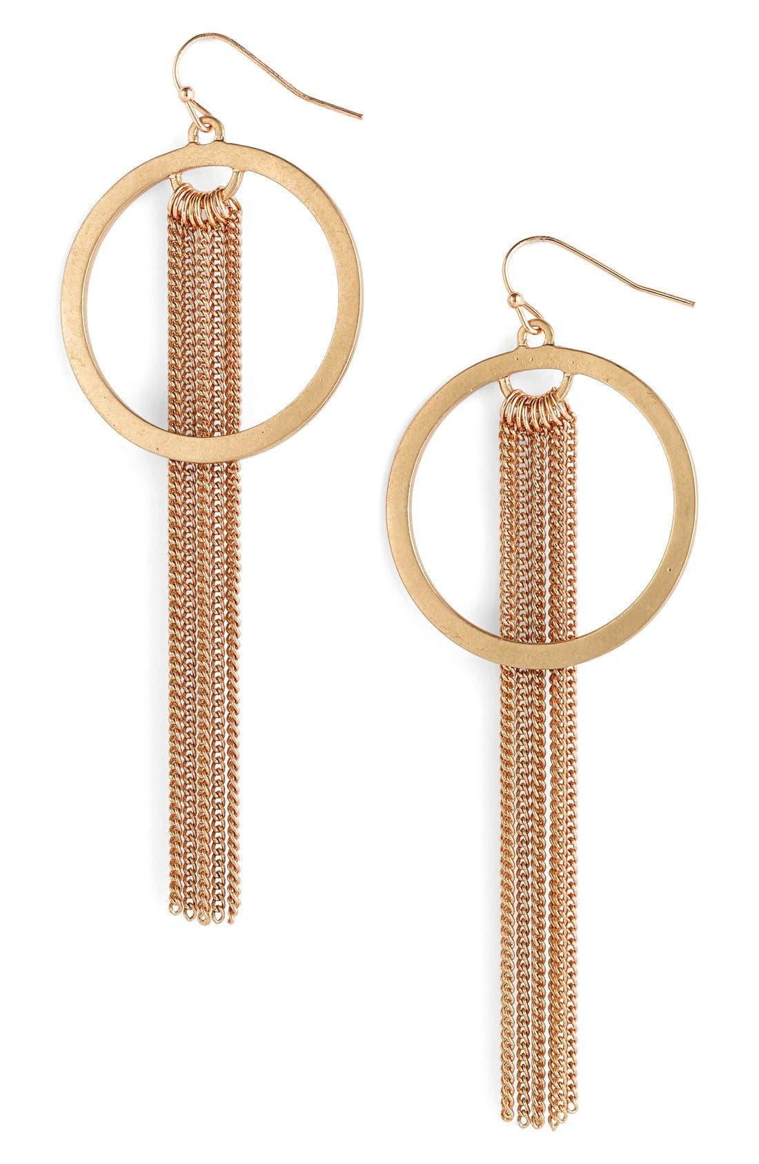 Main Image - BP. Circle Fringe Earrings