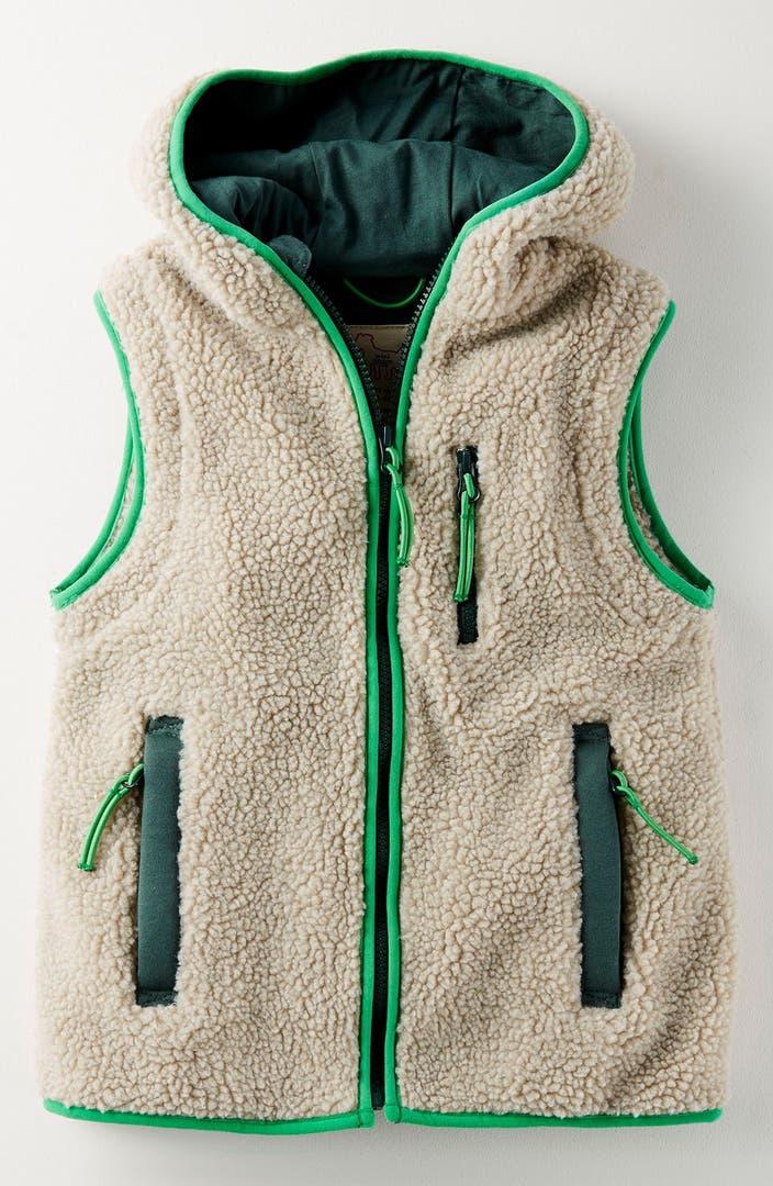 Mini Boden Hooded Fleece Vest Toddler Boys Little Boys