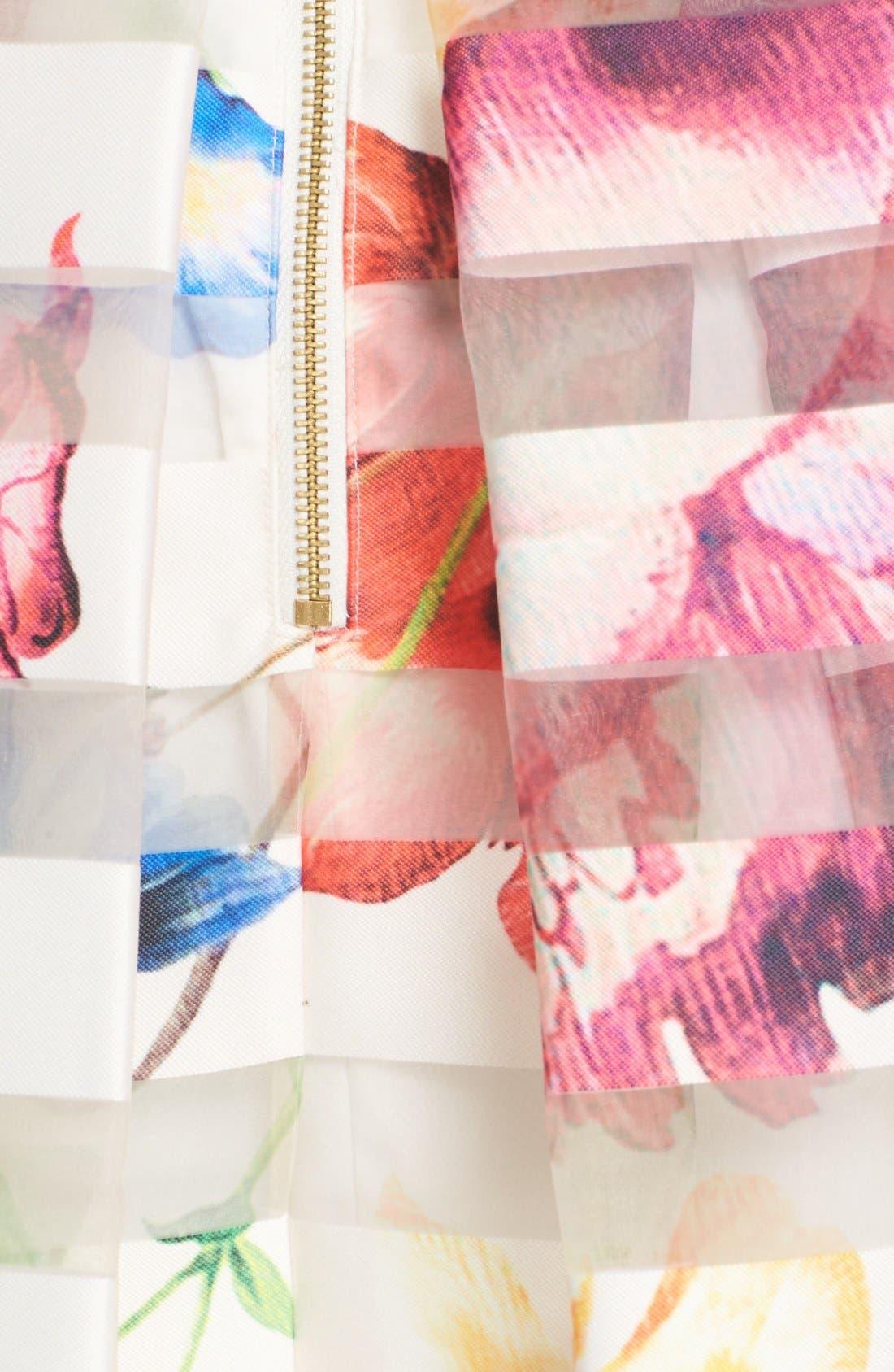 Alternate Image 5  - Ted Baker London 'Hoona' Burnout Stripe Pleated Skirt