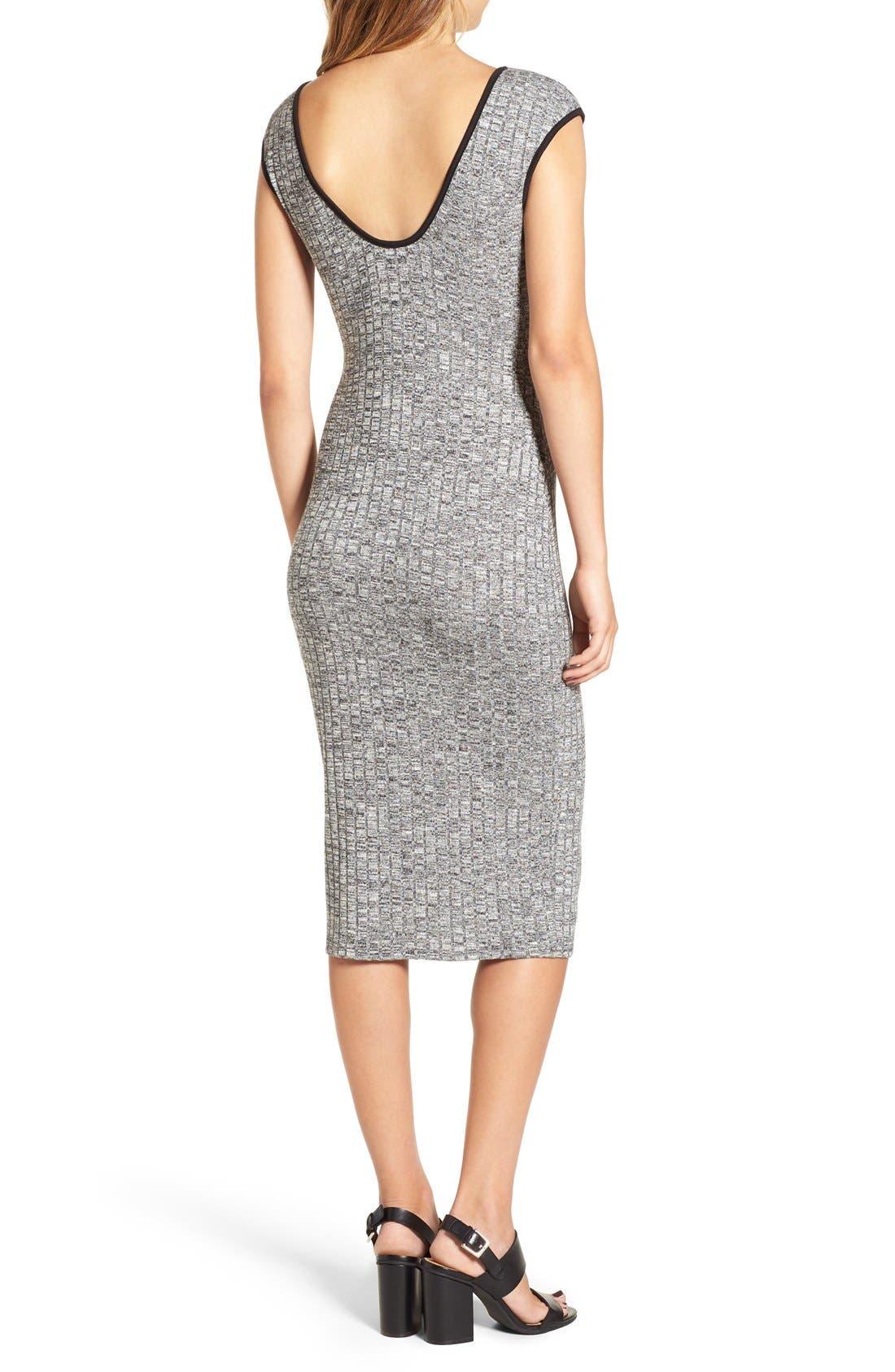 Alternate Image 2  - Love Squared Rib Knit Midi Dress