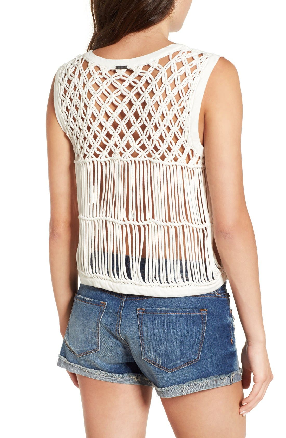Alternate Image 1 Selected - Billabong 'Right Time' Macramé Back Muscle Tee