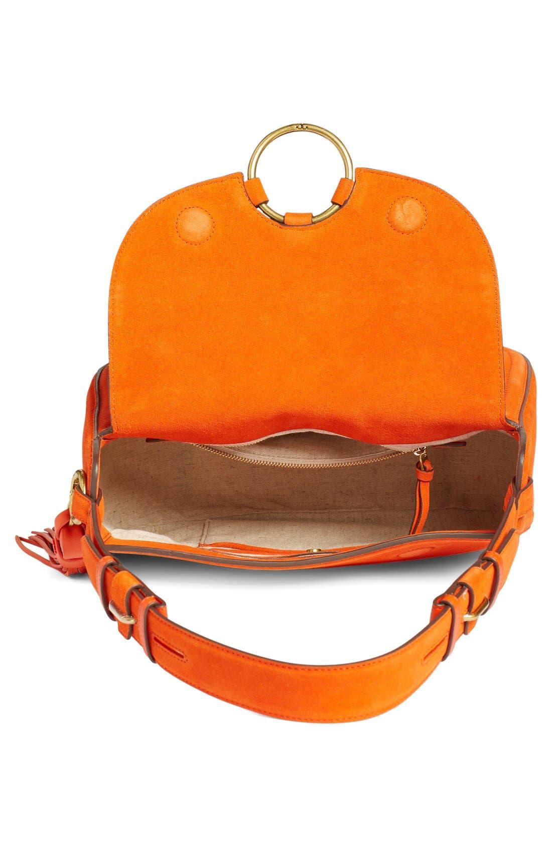 Alternate Image 4  - Tory Burch Leather Shoulder Bag