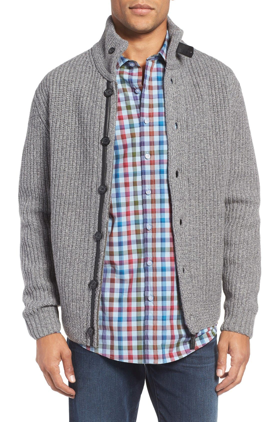 RODD & GUNN 'Eldson' Zip & Button Cardigan