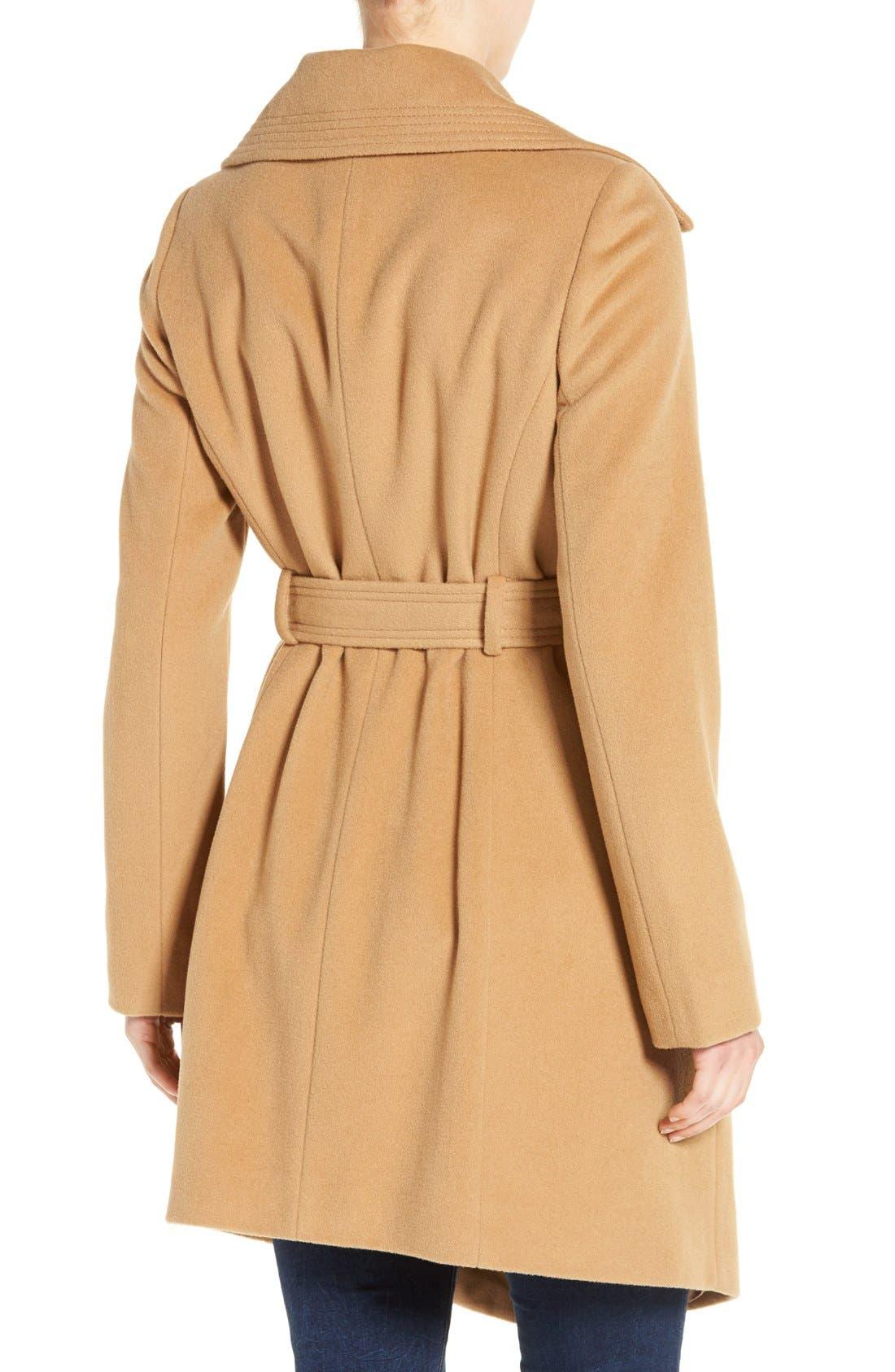 Alternate Image 2  - Diane von Furstenberg Wool Blend Wrap Coat