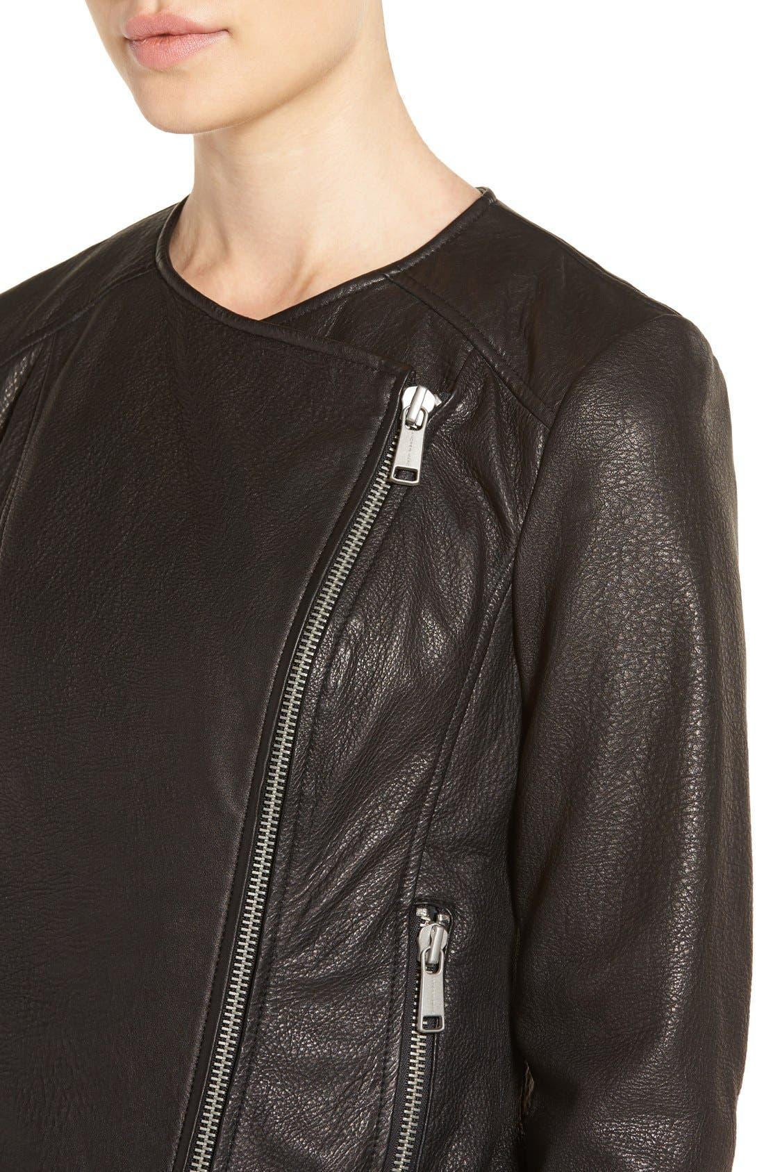 Alternate Image 4  - Andrew Marc 'Riley' Textured Leather Moto Jacket