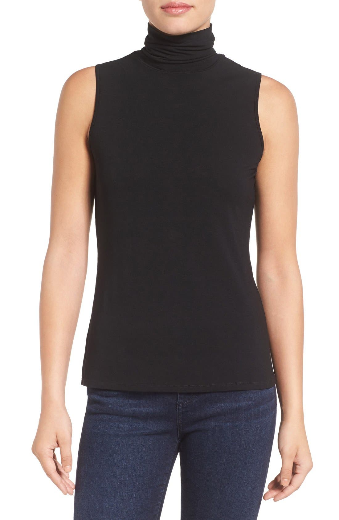 Alternate Image 1 Selected - Vince Camuto Sleeveless Turtleneck Top