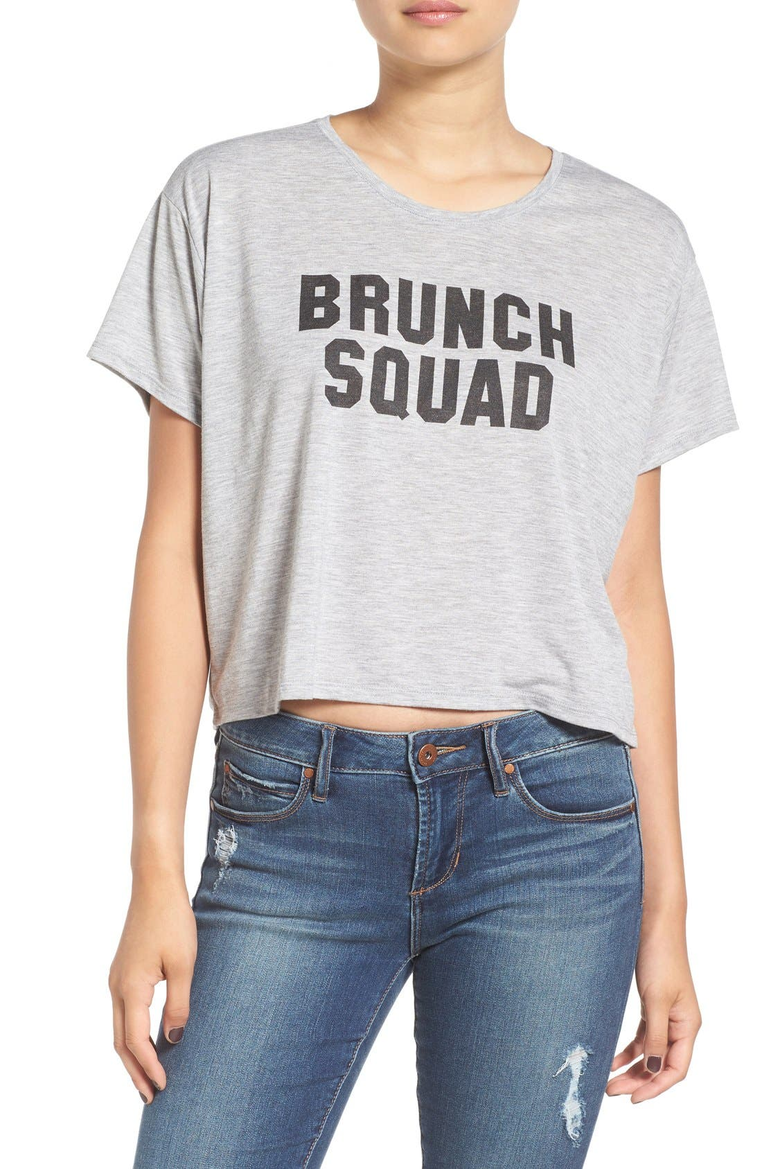Main Image - Kid Dangerous 'Brunch Squad' Crop Graphic Tee