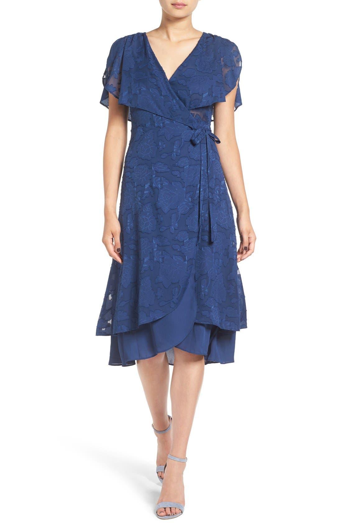Alternate Image 1 Selected - Ten Sixty Sherman Chiffon Wrap Dress
