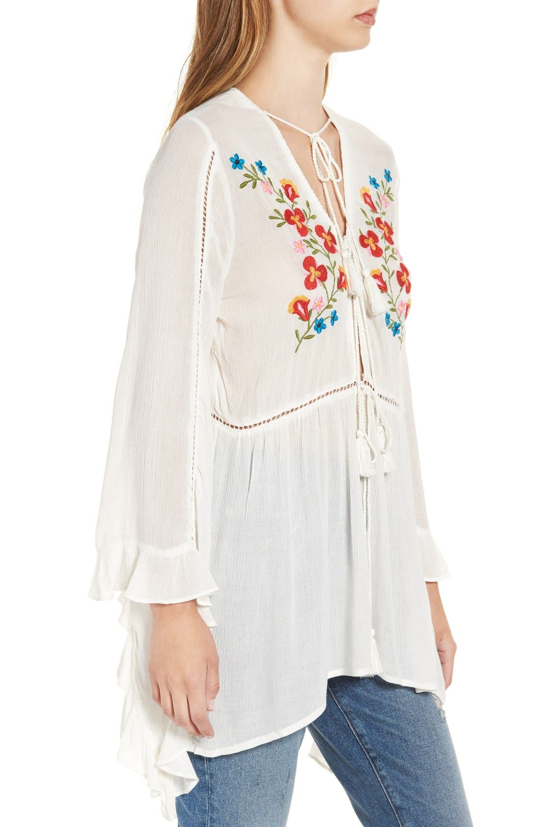 Alternate Image 3  - Glamorous Embroidered Long Sleeve Tunic