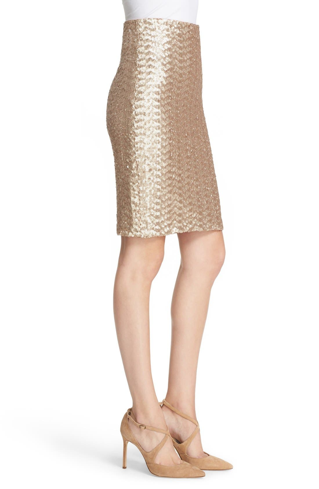 Alternate Image 4  - Alice + Olivia 'Ramos' Sequin Pencil Skirt