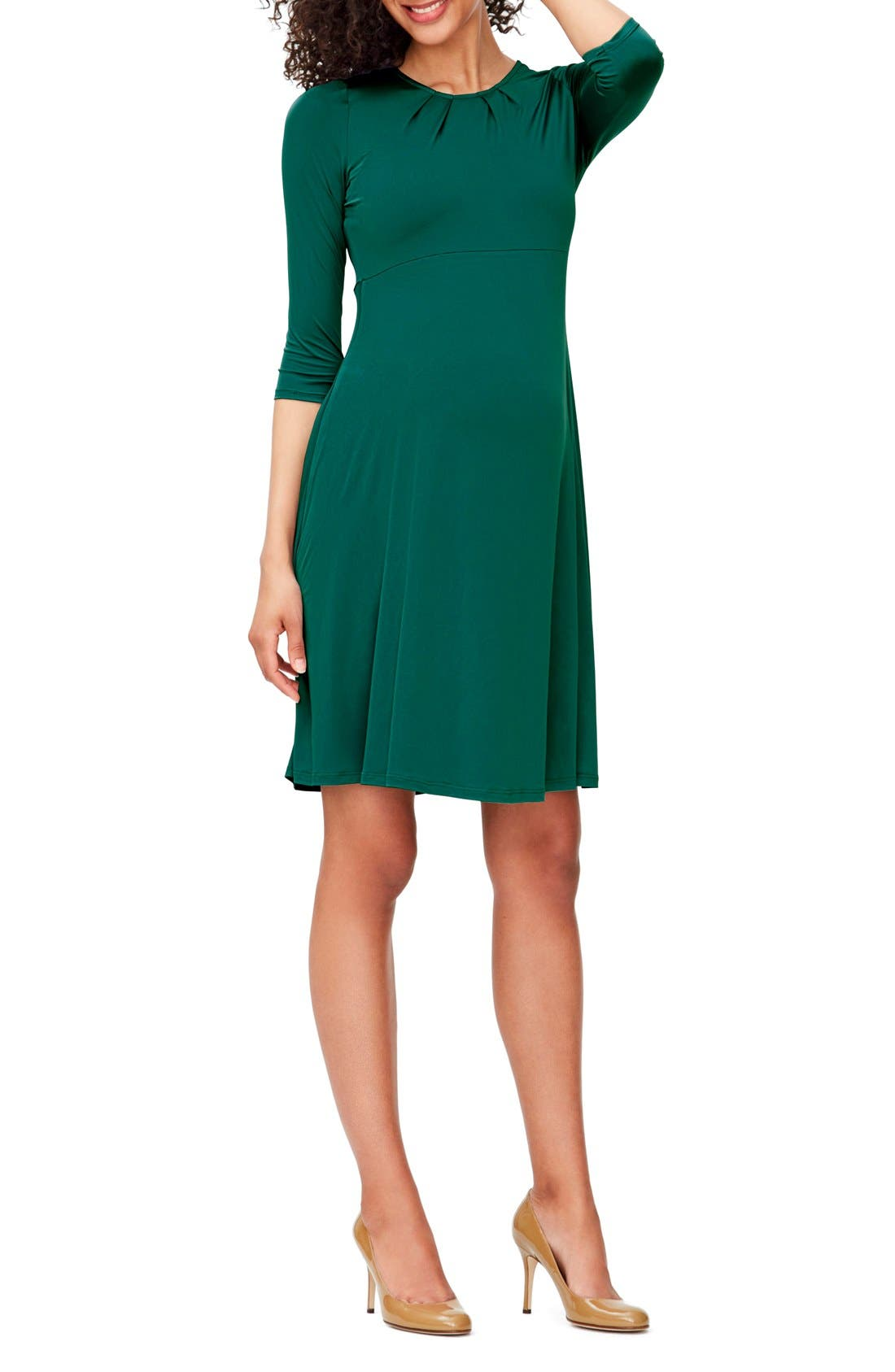 Leota 'Simone' Empire Waist Jersey Maternity Dress