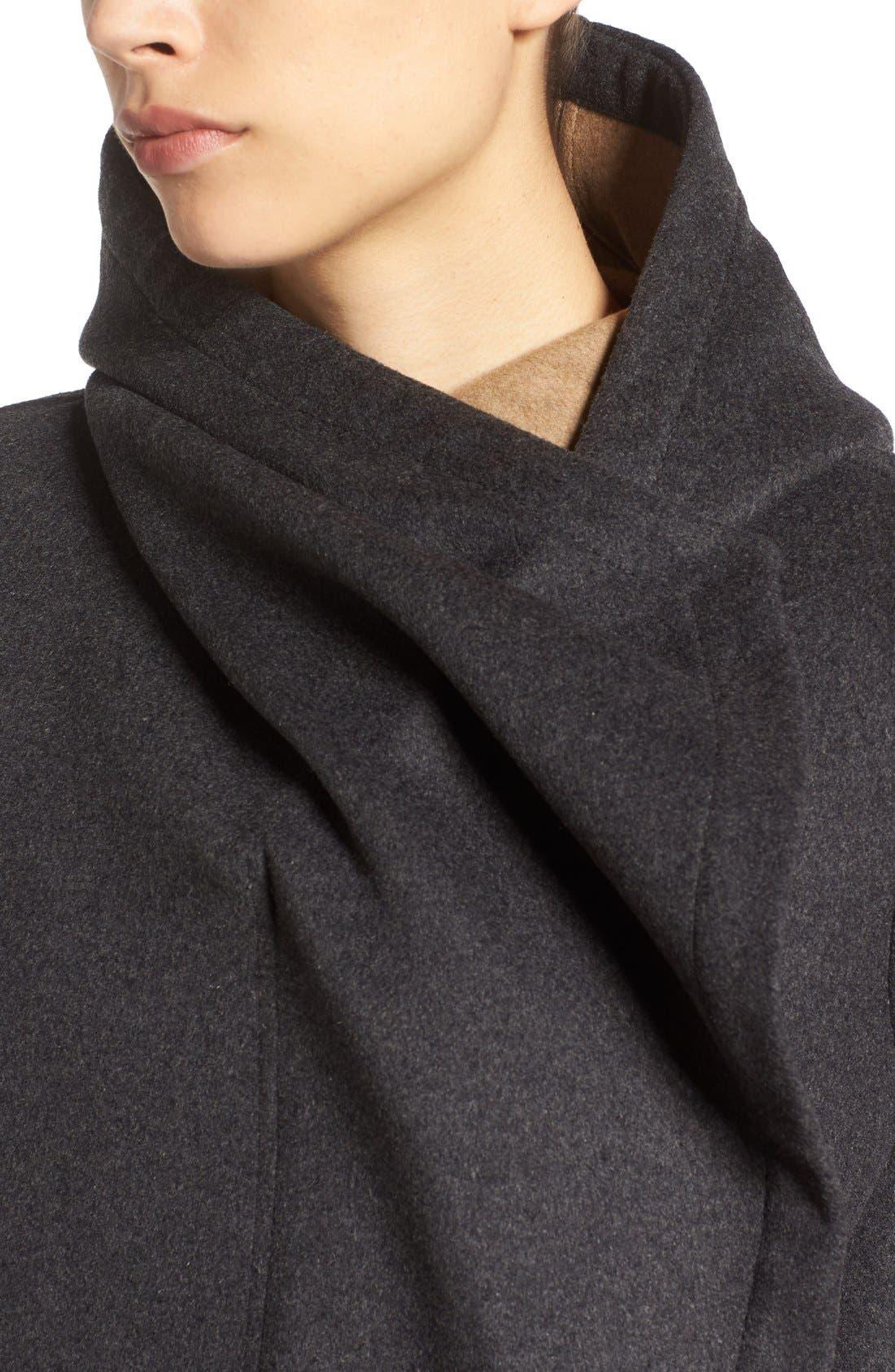 Alternate Image 4  - Vince Camuto Double Face Hooded Drape Coat