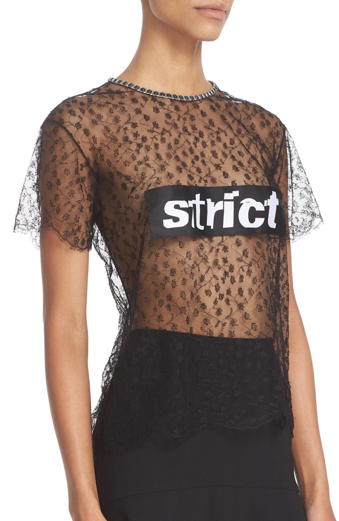 Alternate Image 3  - Alexander Wang 'Strict' Lace Tee