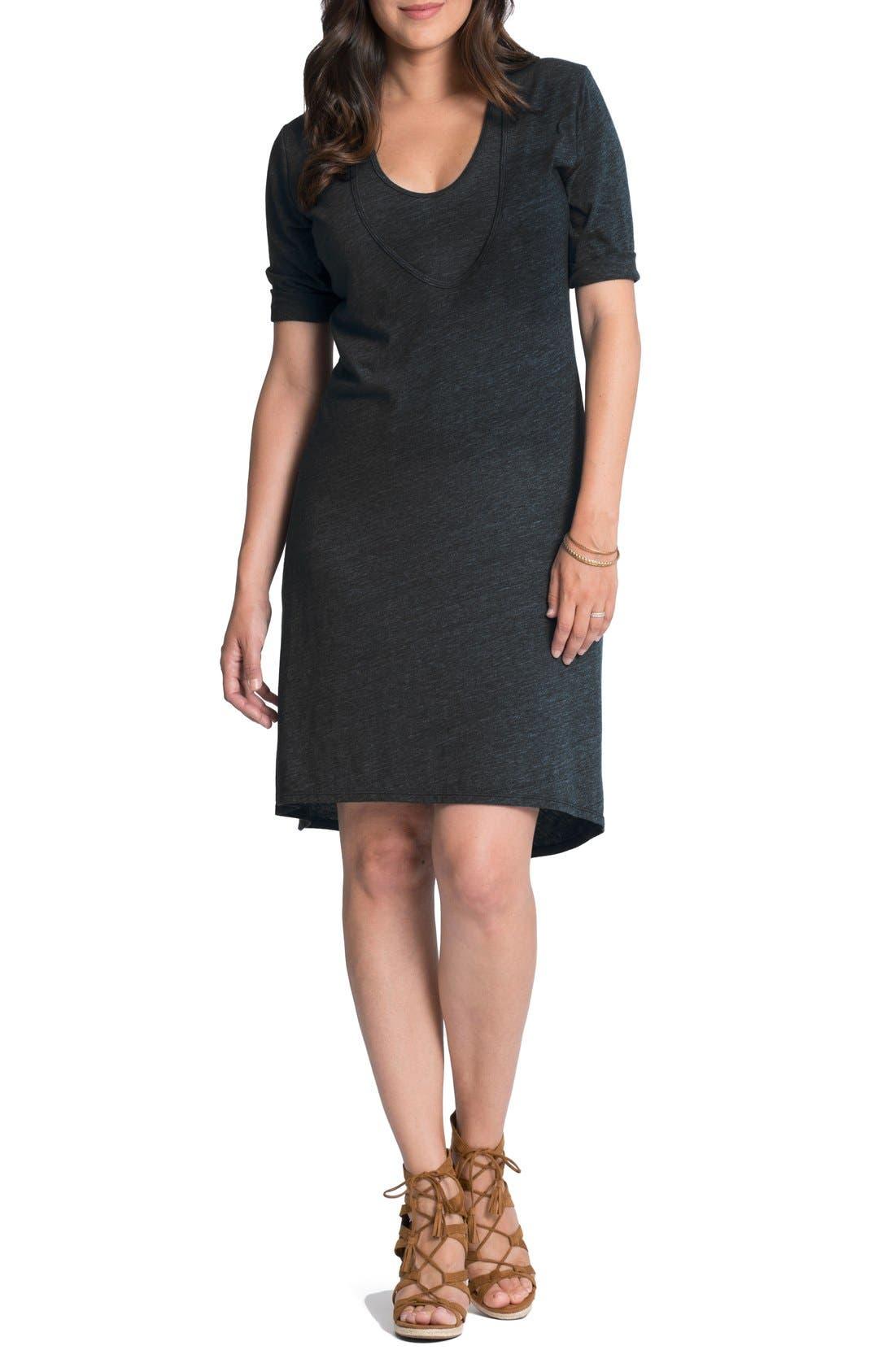 Bun Maternity Maternity/Nursing Shift Dress