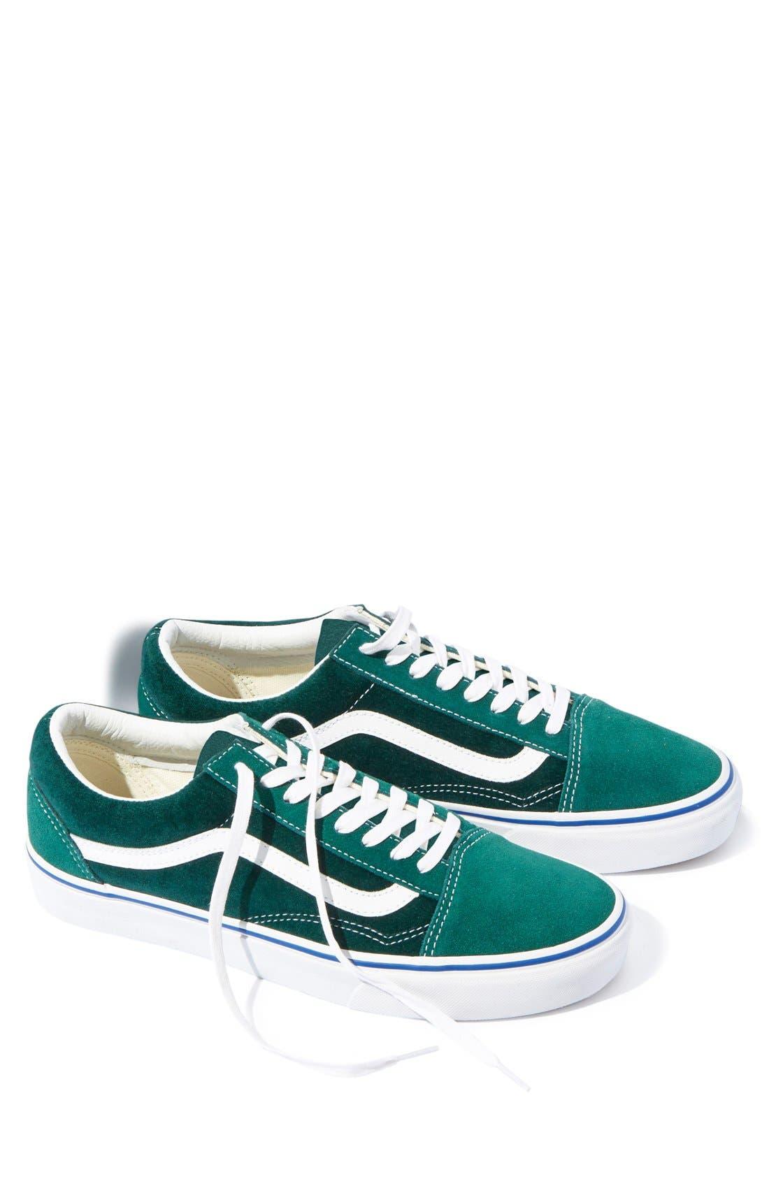 Alternate Image 1 Selected - Vans 'Old Skool' Velvet Sneaker (Men) (Nordstrom Exclusive)
