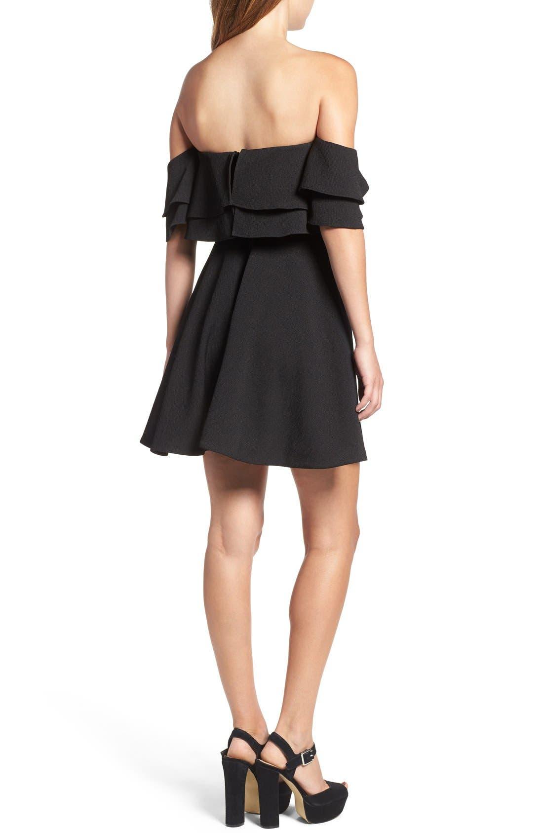 Alternate Image 3  - Keepsake the Label 'Two Fold' Off the Shoulder Minidress