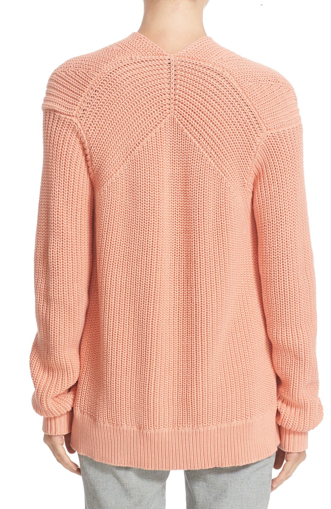 Alternate Image 2  - T by Alexander Wang Knit Cotton Sweater