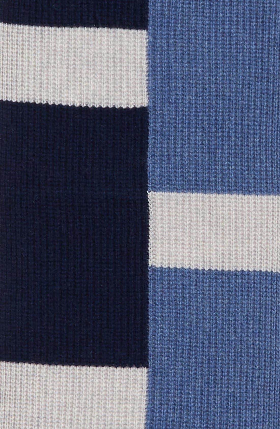 Alternate Image 3  - Halogen® Colorblock Knit Cashmere Scarf