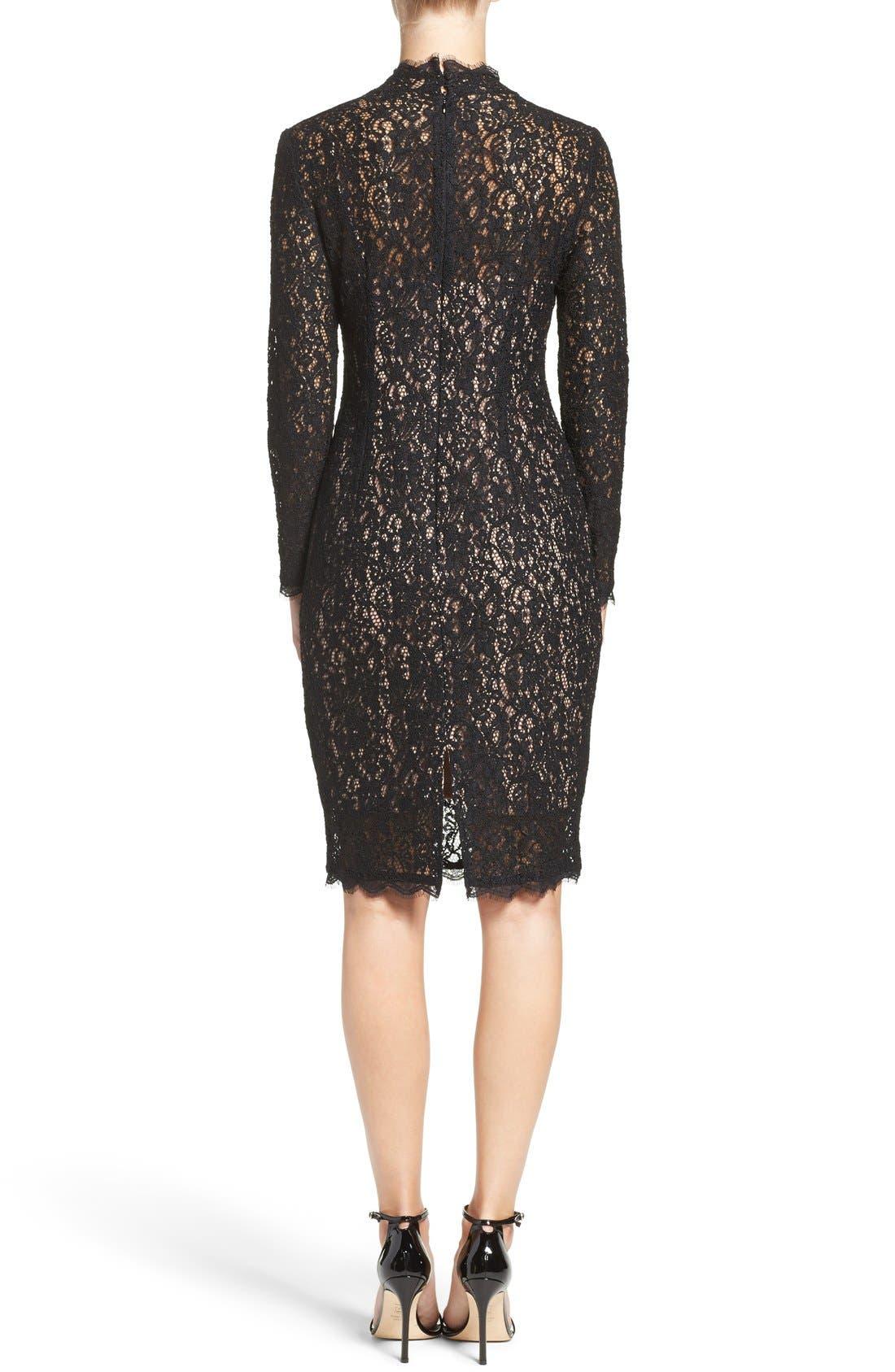 Alternate Image 2  - Adrianna Papell Corded Lace Sheath Dress (Regular & Petite)