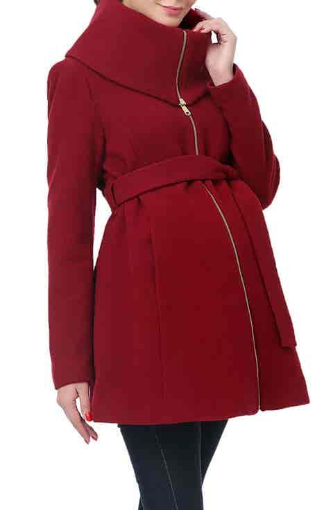 Kimi and Kai 'Mia' High Collar Maternity Coat