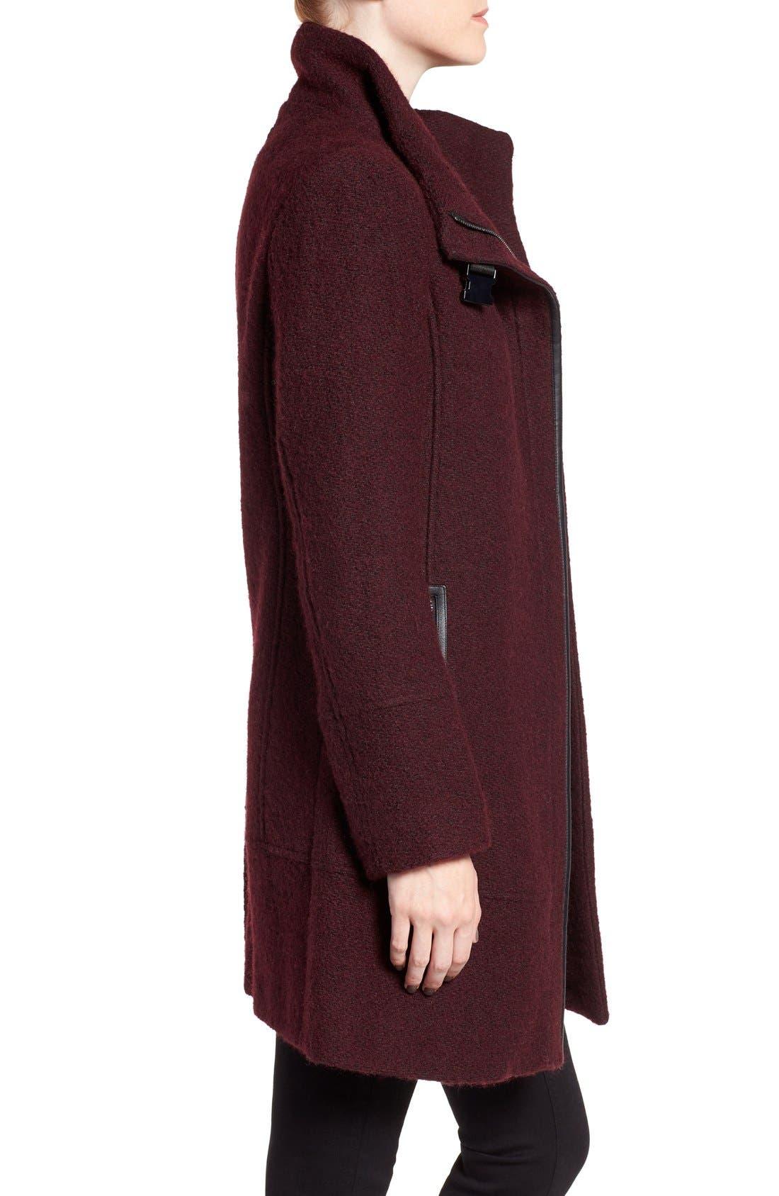 Alternate Image 3  - Calvin Klein Wool Blend Bouclé Walking Jacket (Regular & Petite)