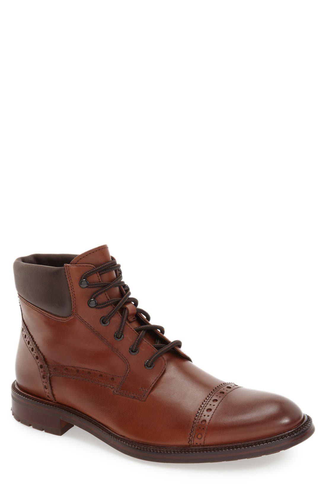 J&M 1850 'Fulton' Cap Toe Boot (Men)