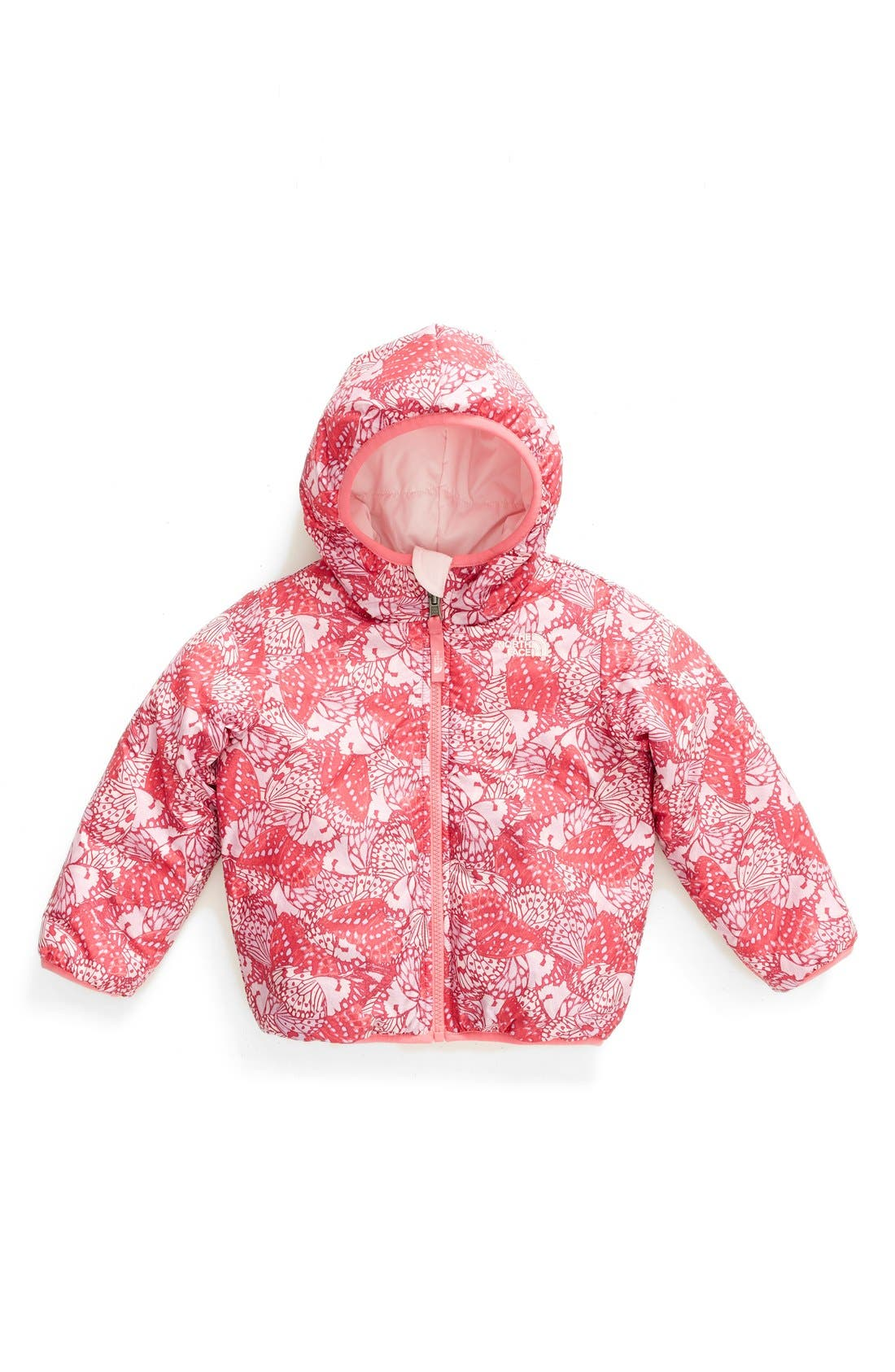 Alternate Image 1 Selected - The North Face 'Perrito' Reversible Water Repellent Hooded Jacket (Toddler Girls & Little Girls)