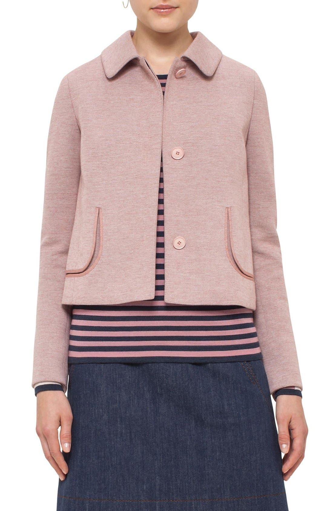 Alternate Image 1 Selected - Akris punto Doll Collar Jersey Jacket