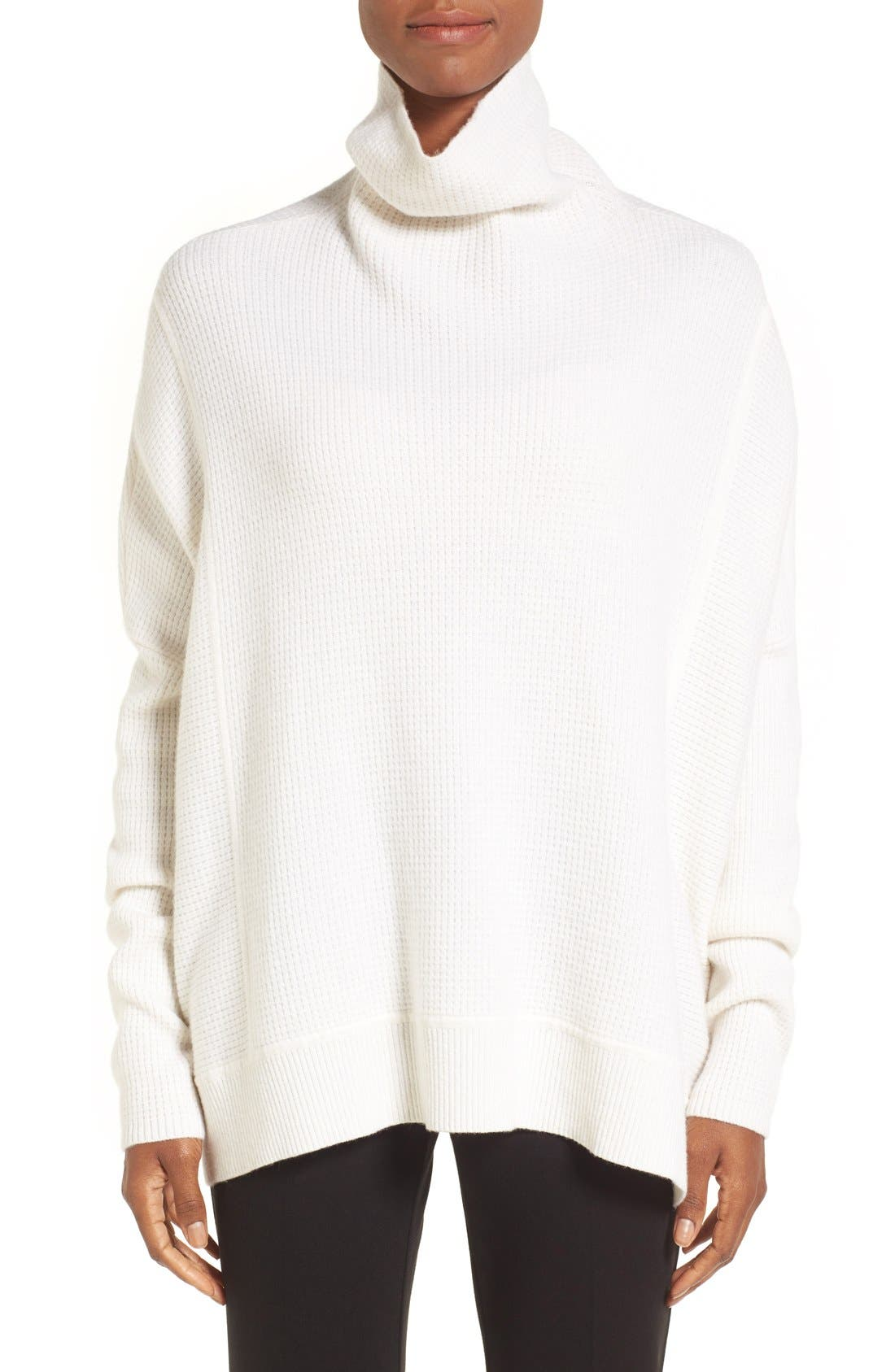 Main Image - Nordstrom Collection Cashmere Boxy Turtleneck