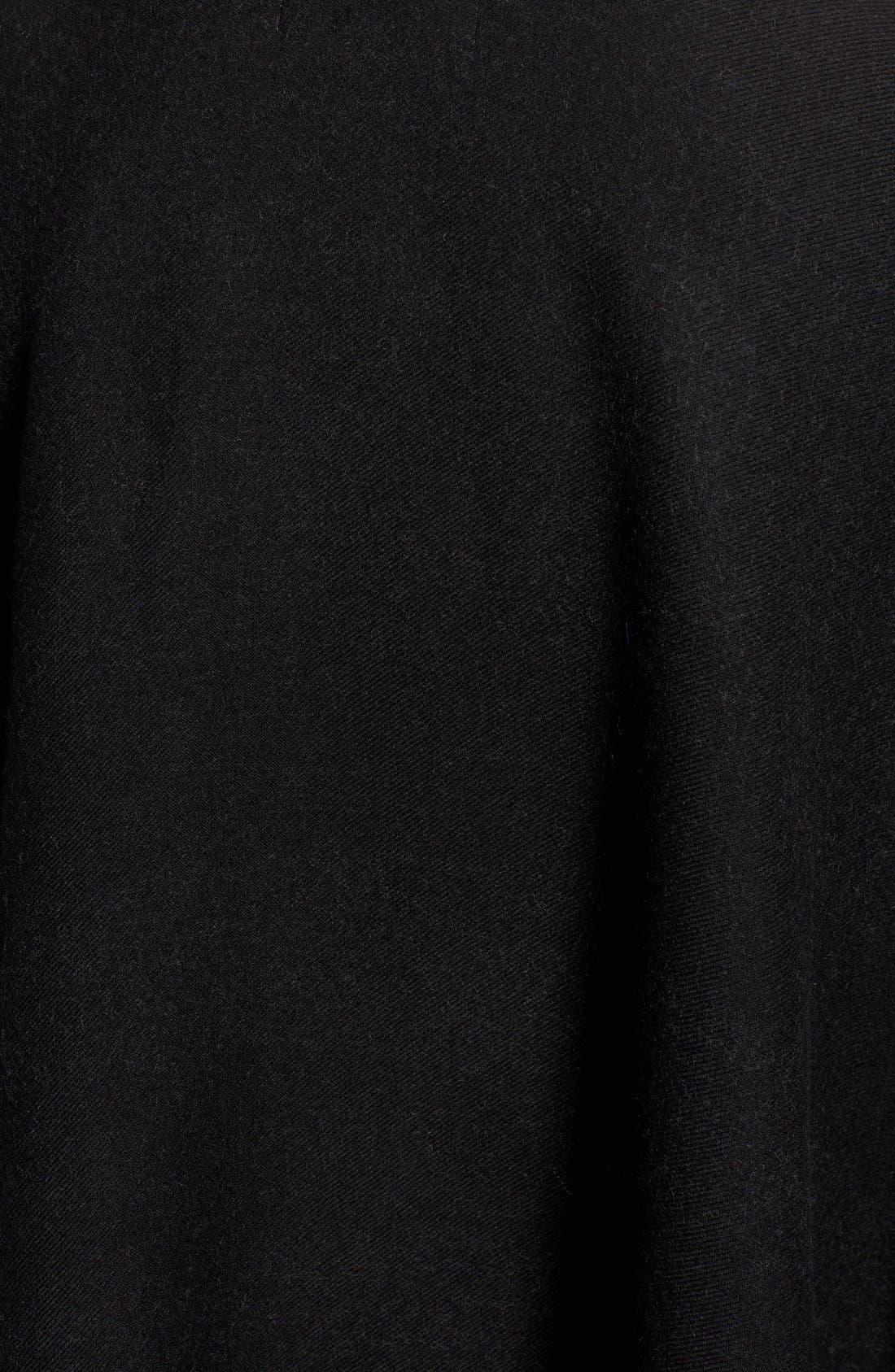 Alternate Image 5  - Burberry Merino Wool Cape with Genuine Fox Fur Trim