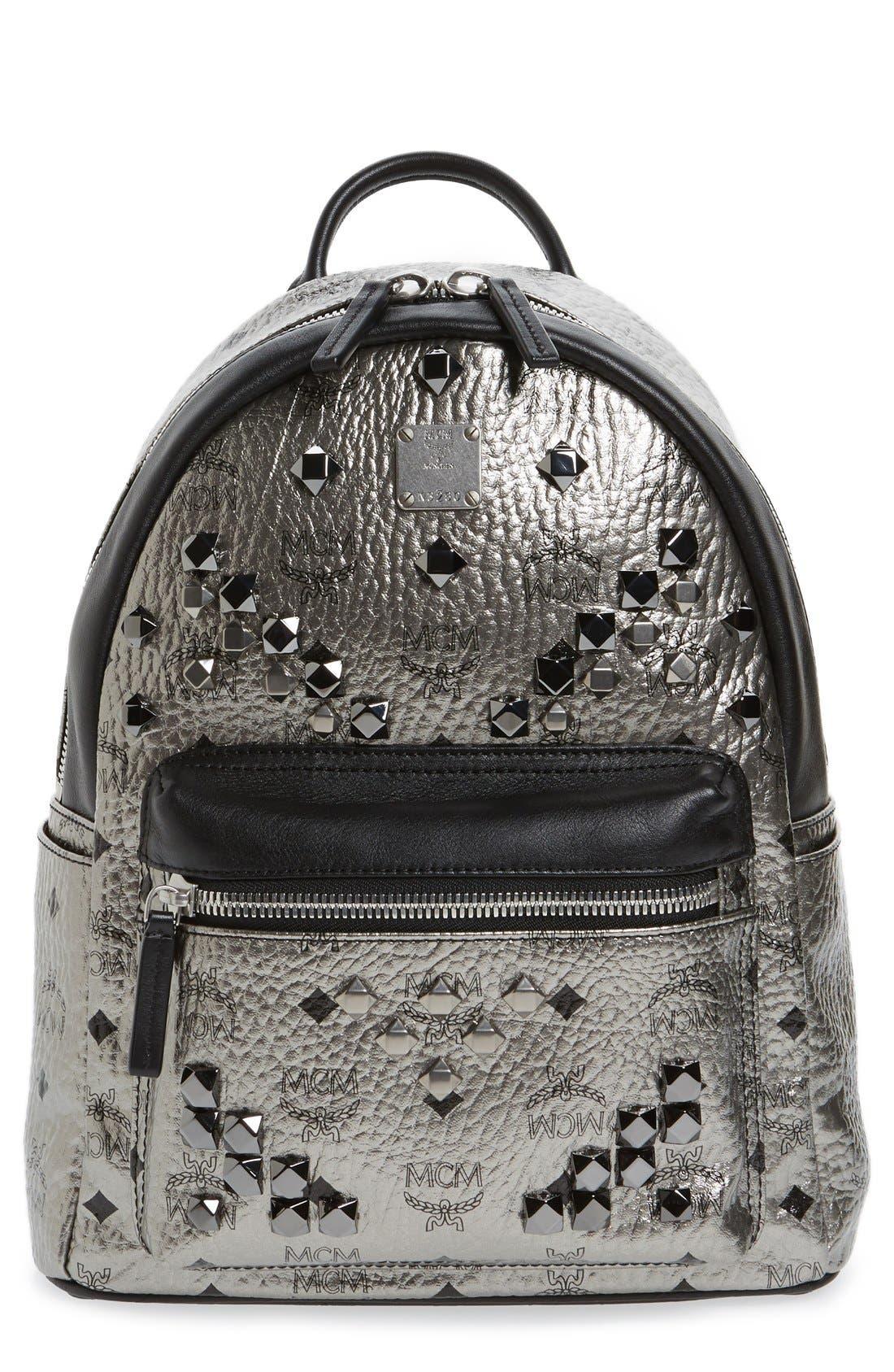 Main Image - MCM 'Small Stark' Studded Backpack