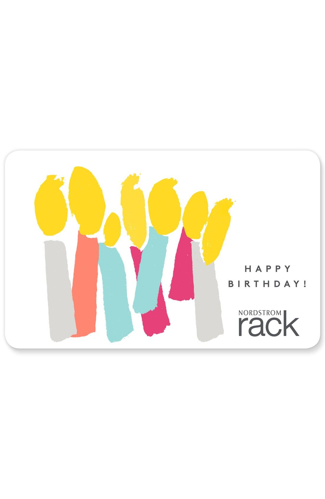 Nordstrom Rack Birthday Candles Gift Card