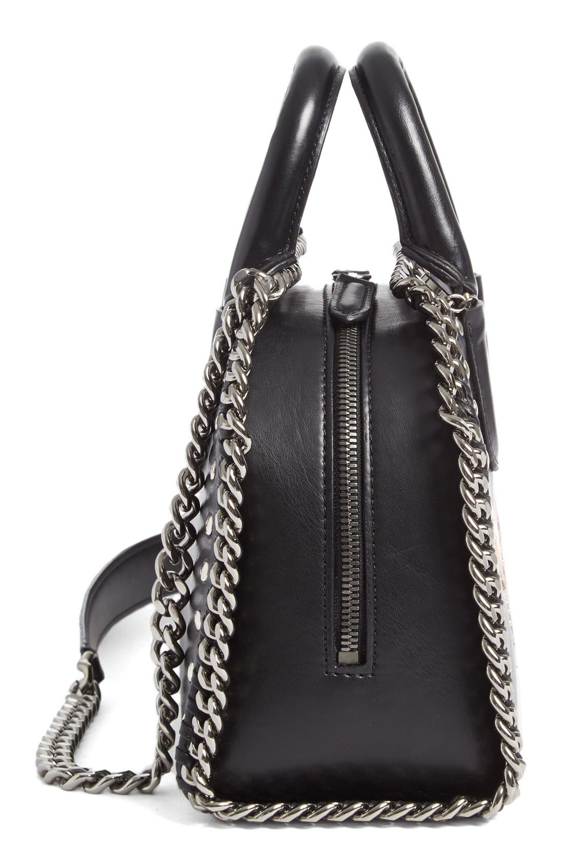 Alternate Image 4  - Stella McCartney Mini Falabella Embroidered Faux Leather Tote