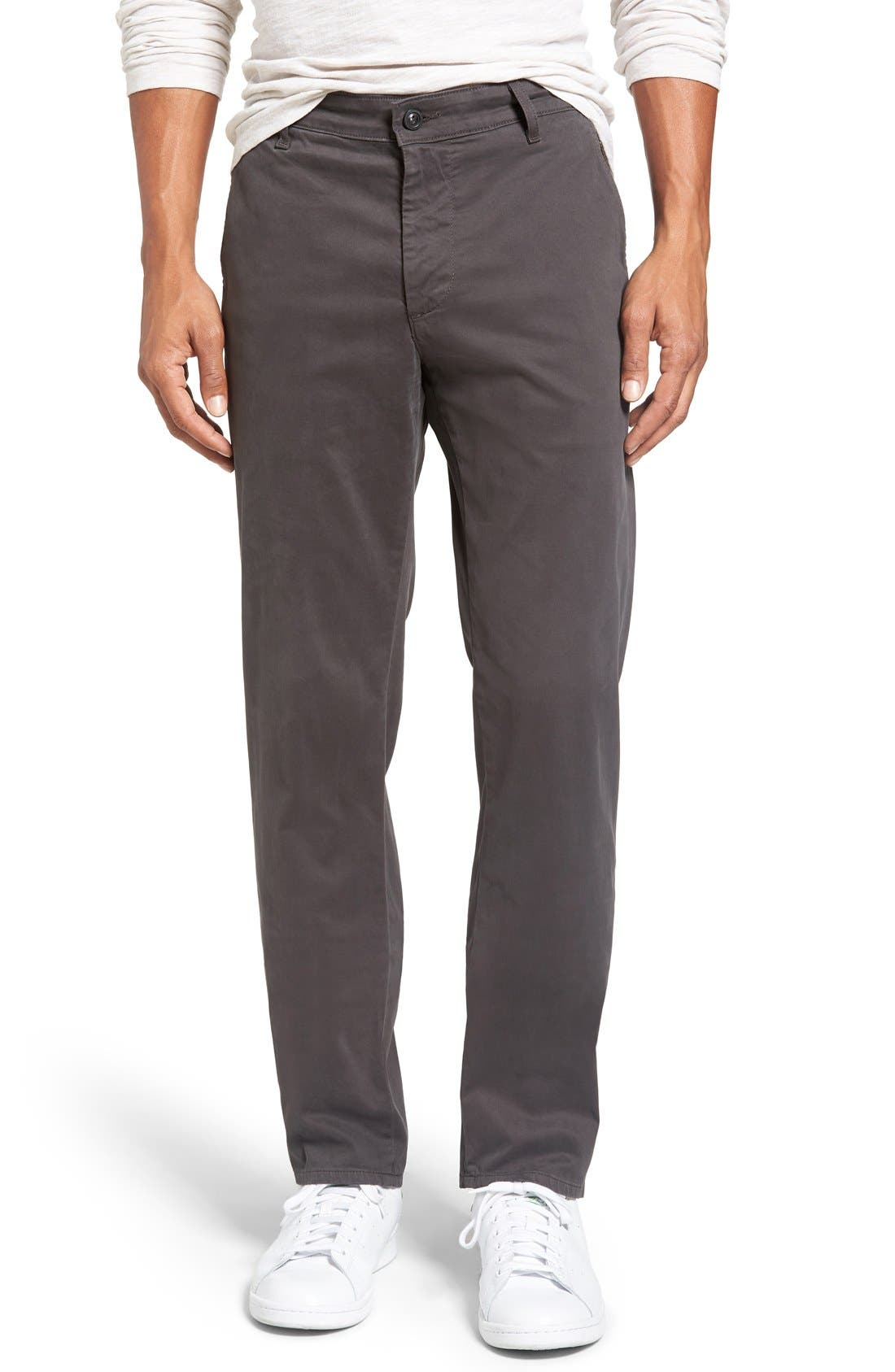 Main Image - AG 'The Lux' Tailored Straight Leg Chinos