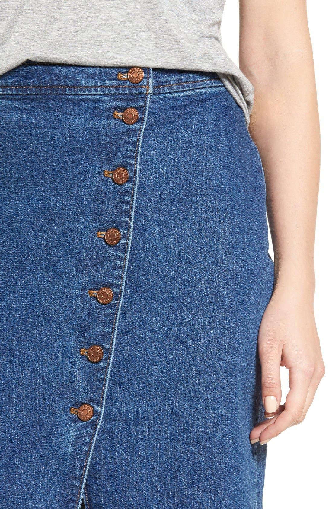 Alternate Image 4  - Madewell Denim Midi Skirt