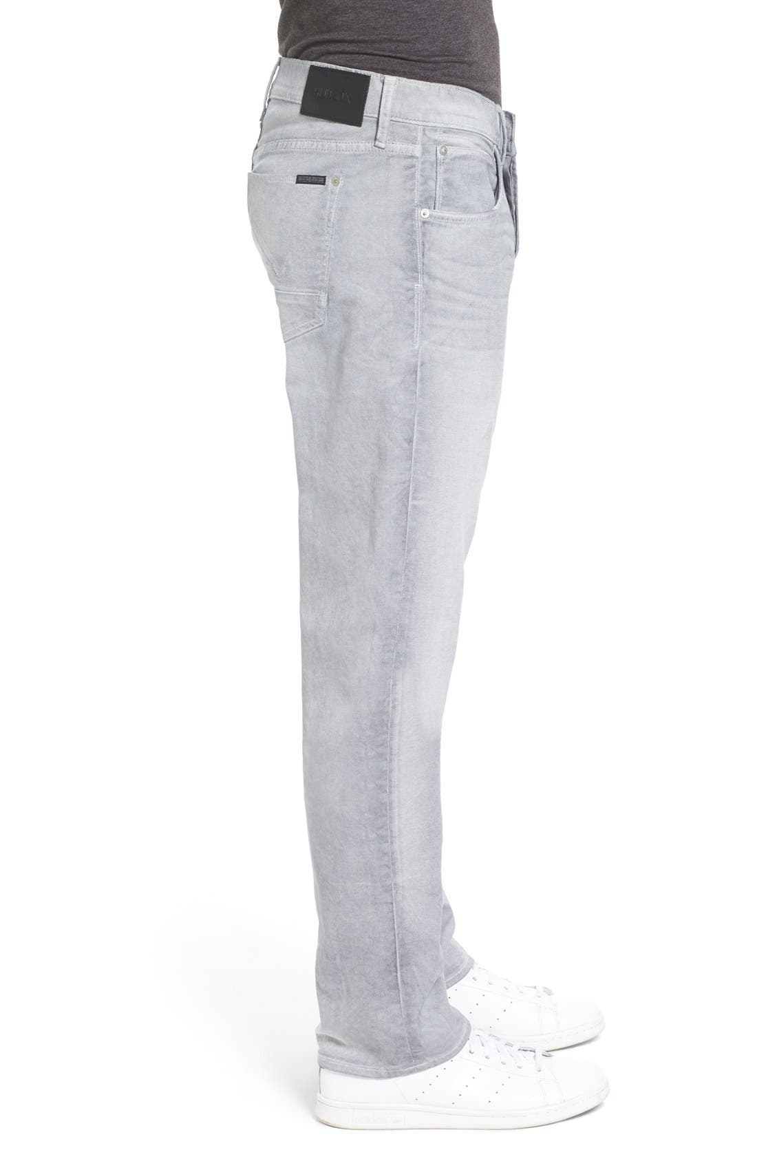 Alternate Image 3  - Hudson Jeans Byron Slim Straight Leg Jeans (Militia Grey)