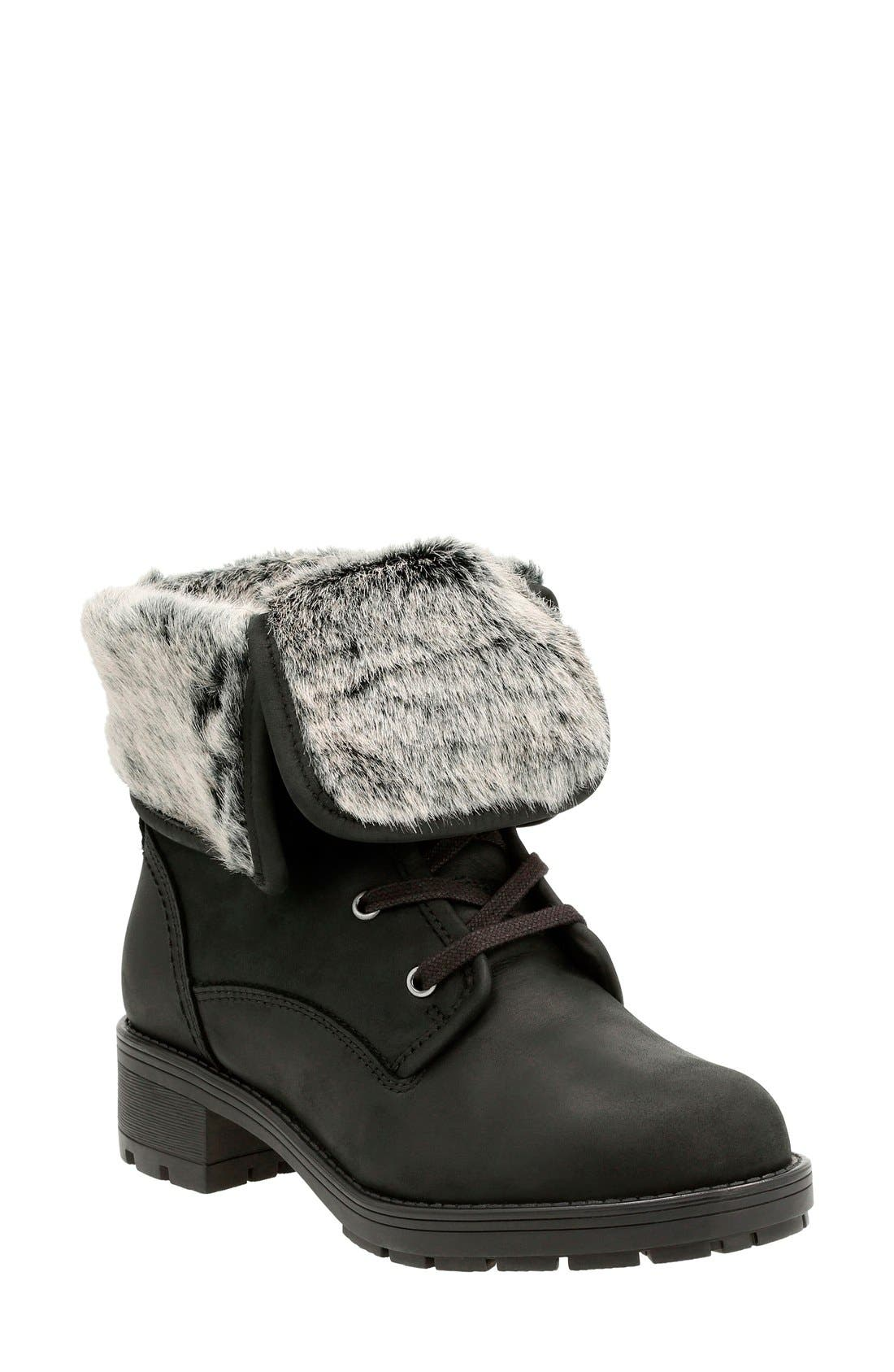 Clarks® 'Reunite Go' Waterproof Gore-Tex® Boot (Women)