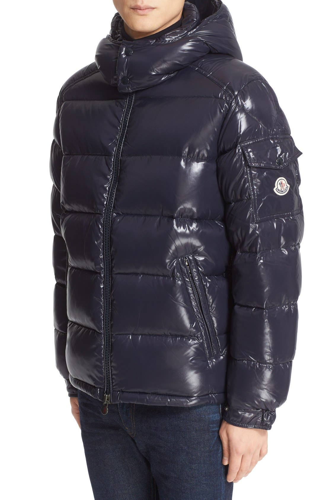Moncler Maya Lacquered Down Jacket